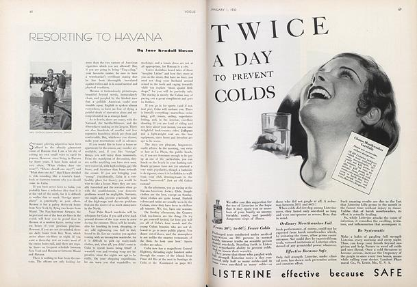 Article Preview: Resorting To Havana, January 1 1932 | Vogue