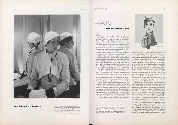 Hats Take An Optimistic Turn/Hats List to Starboard