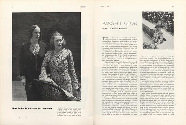 Article Preview: Washington, July 1 1932 | Vogue
