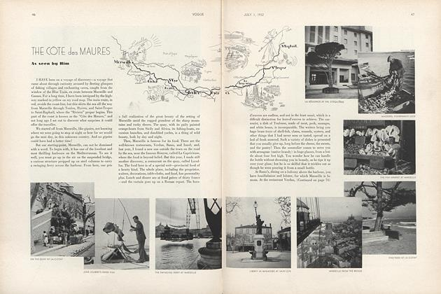 Article Preview: The Cote Des Maures, July 1 1932 | Vogue