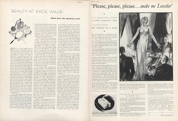 Article Preview: Beauty at Face Value, July 1 1932 | Vogue