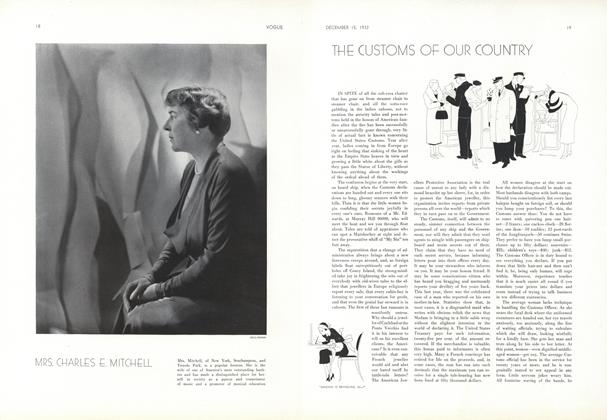 Article Preview: The Customs of Our Country, December 15 1932 | Vogue