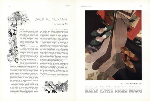 Article Preview: Back to Normal, December 15 1932 | Vogue