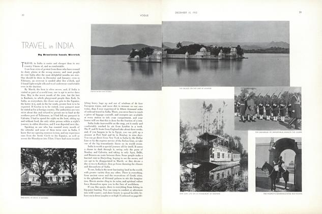 Article Preview: Travel in India, December 15 1932 | Vogue
