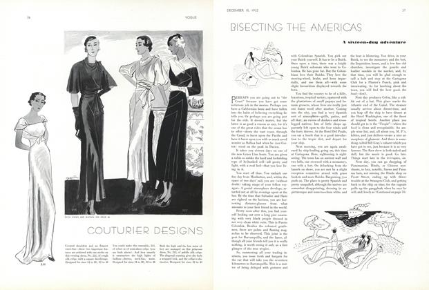 Article Preview: Bisecting the Americas, December 15 1932 | Vogue