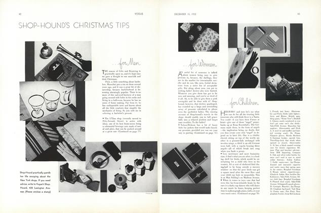 Article Preview: Shop-Hound's Christmas Tips, December 15 1932 | Vogue