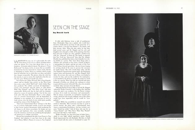 Article Preview: Seen On The Stage, December 15 1932 | Vogue
