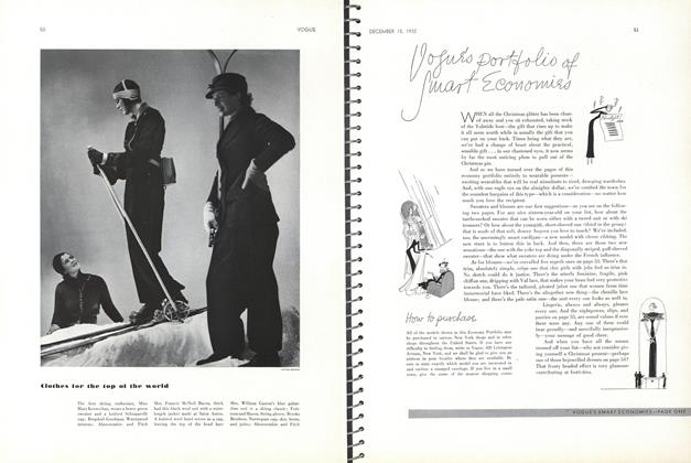 Article Preview: Vogue's Portfolio of Smart Economies, December 15 1932 | Vogue