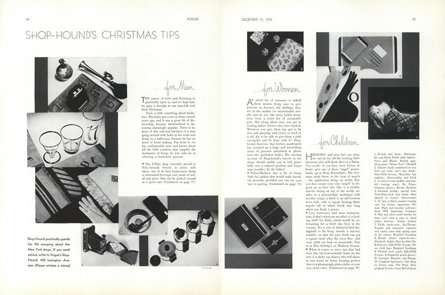 Shop-Hound's Christmas Tips