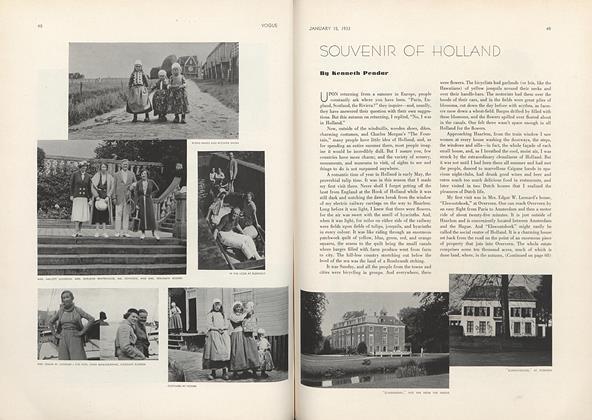 Souvenir of Holland