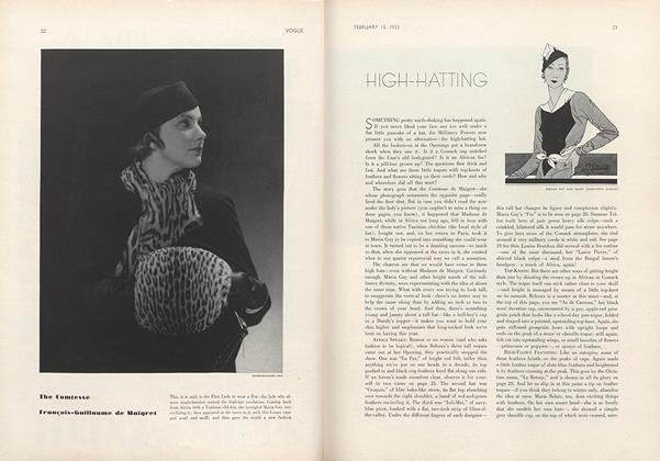 Article Preview: High-Hatting, February 15 1933 | Vogue