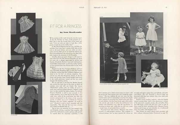 Article Preview: Fit for a Princess, February 15 1933 | Vogue