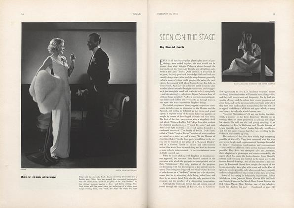 Article Preview: Seen on the Stage, February 15 1933 | Vogue