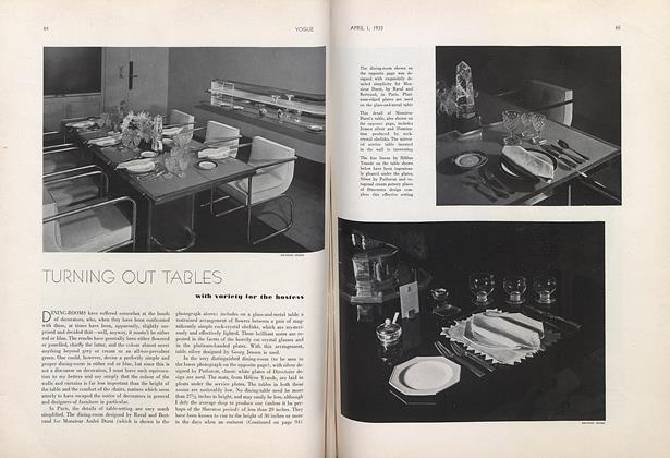 Turning out Tables with Variety for the Hostess