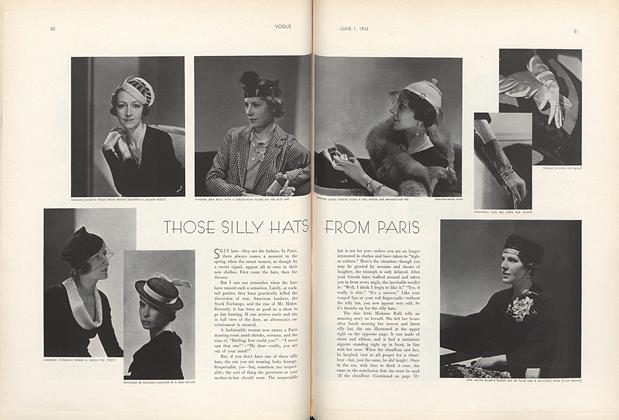 Article Preview: Those Silly Hats from Paris, June 1 1933 | Vogue