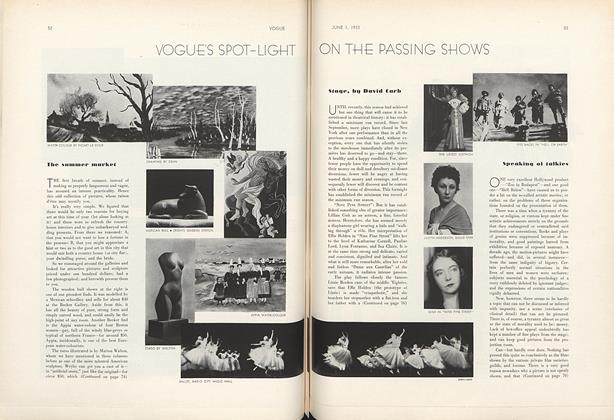 Article Preview: Speaking of Talkies, June 1 1933 | Vogue