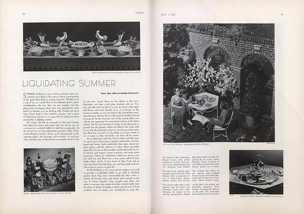 Liquidating Summer for the Discerning Hostess
