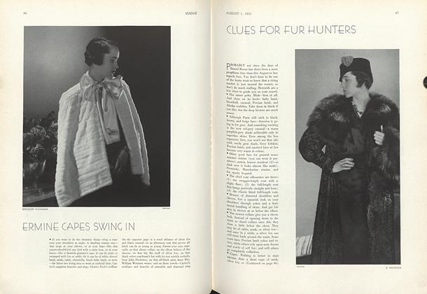 Clues for Fur Hunters