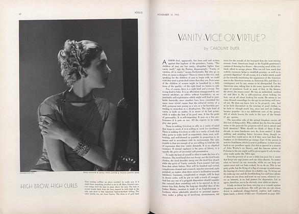Vanity—Vice or Virtue?