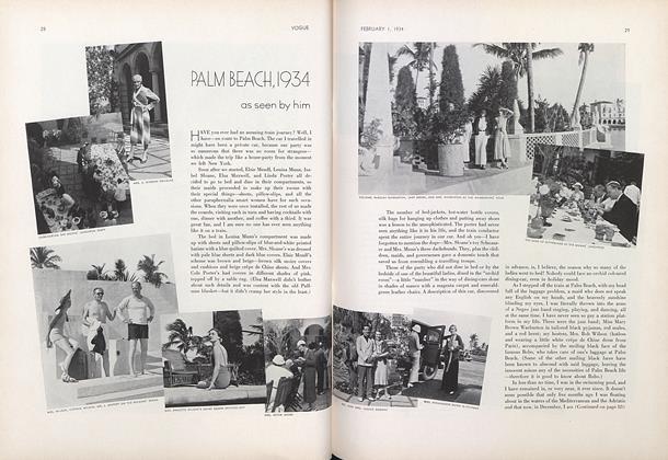 Palm Beach, 1934: As Seen by Him