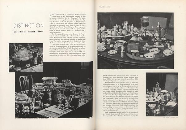 Article Preview: Distinction Presides at English Tables, March 1 1934 | Vogue