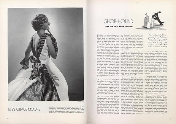 Article Preview: Shop-Hound: Tips on the Shop Market, July 15 1934 | Vogue