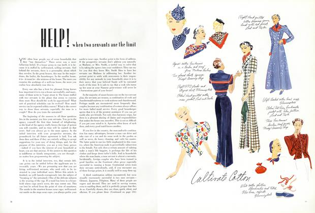 Article Preview: Help! When Two Servants Are the Limit, May 1 1936 | Vogue