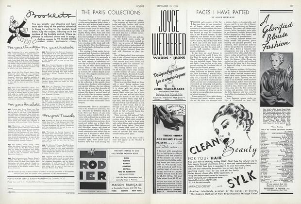 Article Preview: Faces I Have Patted, September 15 1936 | Vogue