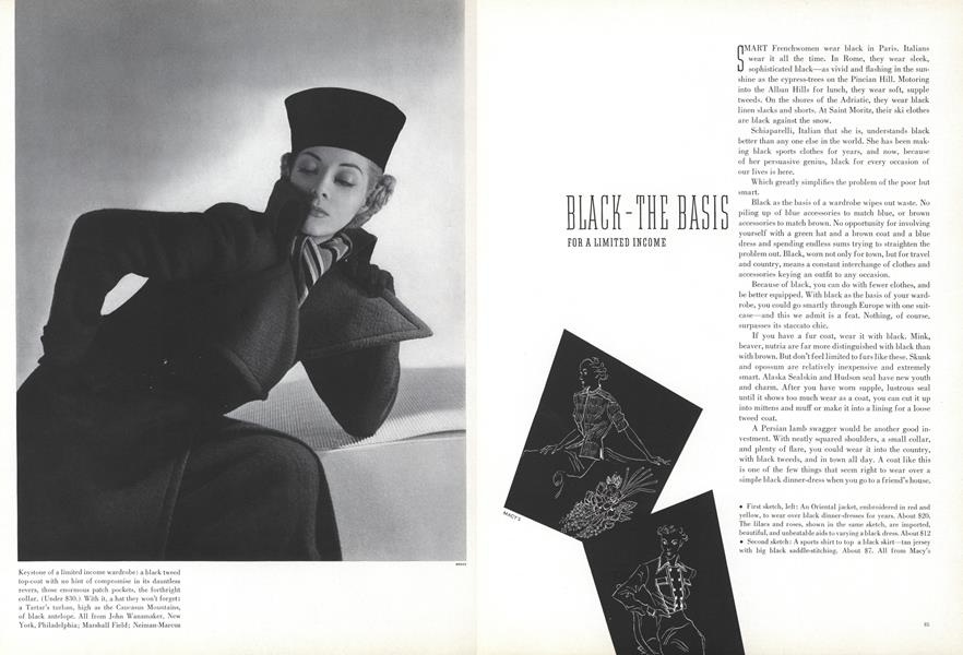 Black—The Basis for a Limited Income