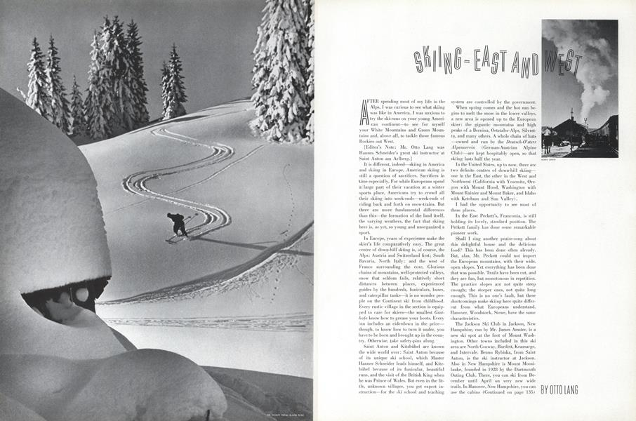 Skiing—East and West