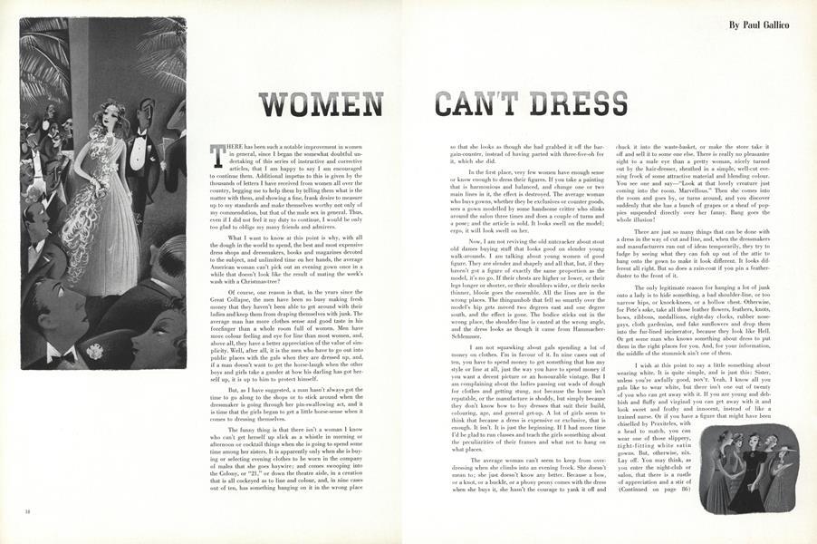 Women Can't Dress