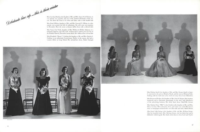 Debutante Line-up—This Is Their Winter/Debutante's Dictionary/Miss Phyllis Stevenson