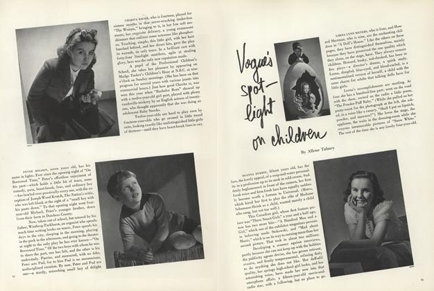 Vogue's Spot-light on Children