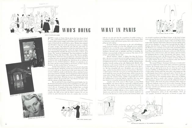 Article Preview: Who's Doing What in Paris, January 15 1939 | Vogue