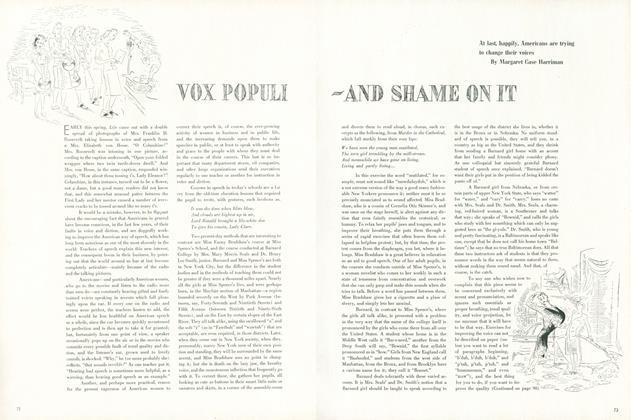 Vox Populi - And Shame On It