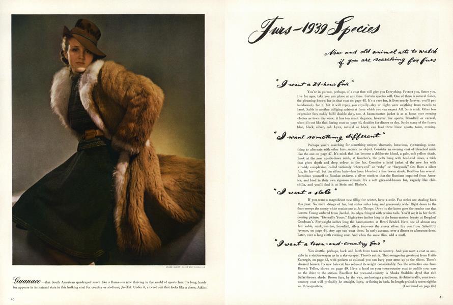 Furs—1939 Species