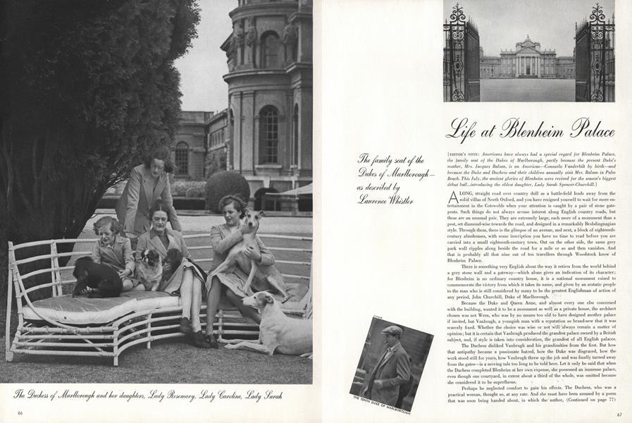 Life at Blenheim Palace