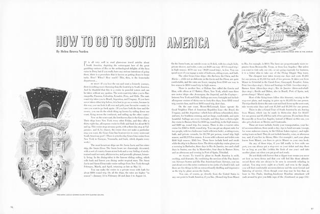 How to Go to South America