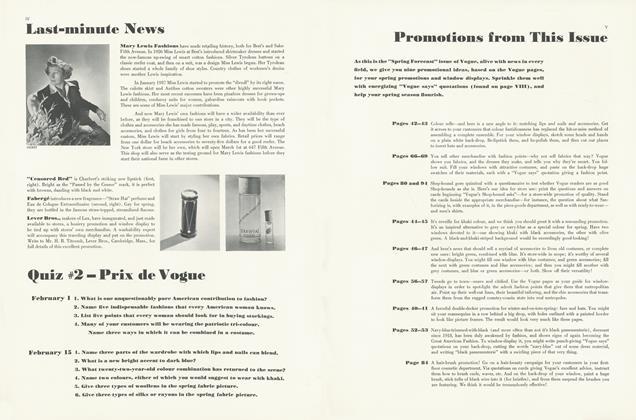 Last-minute News: Quiz 2 — Prix de Vogue