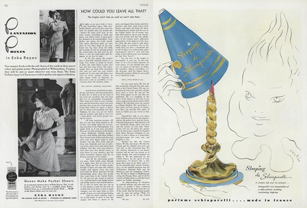 Article Preview: How Could You Leave All That?, April 1 1940 | Vogue