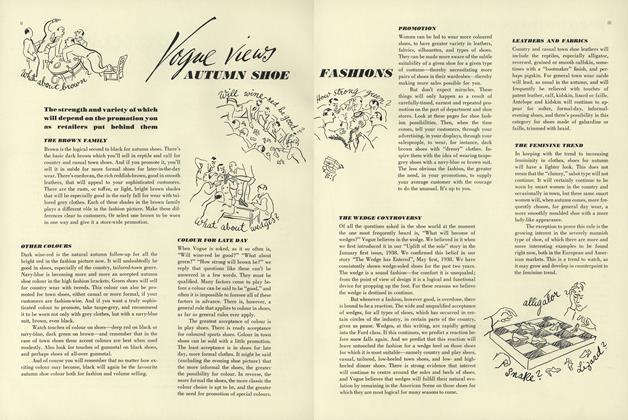Vogue Views Autumn Shoe Fashions