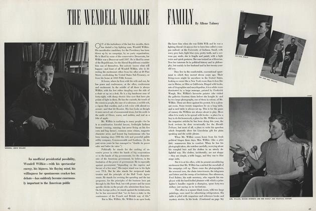 The Wendell Willkie Family