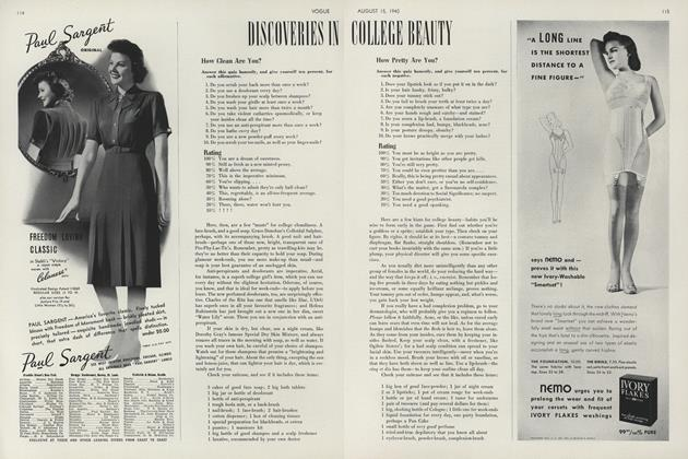 Discoveries in College Beauty: How Clean Are You? How Pretty Are You?