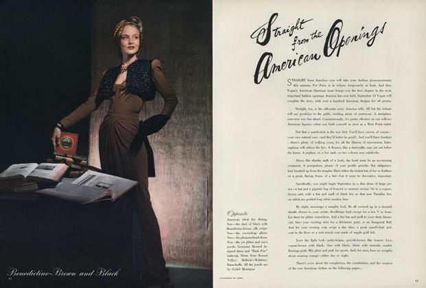 Article Preview: Straight from the American Openings, September 1 1940 | Vogue