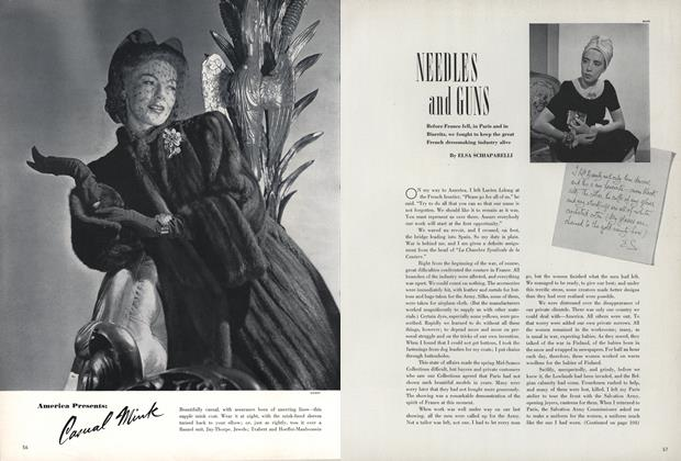 Article Preview: Needles and Guns, September 1 1940 | Vogue