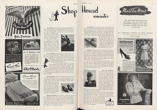 Shop Hound Nominates