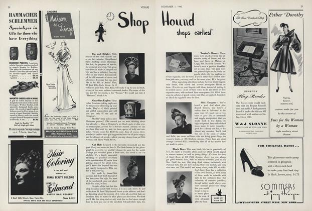 Article Preview: Shop Hound Shops Earliest, November 1 1940 | Vogue