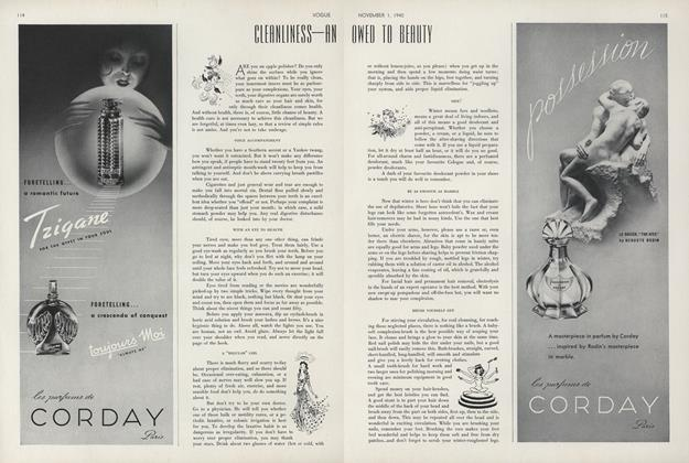 Article Preview: Cleanliness–an Owed to Beauty, November 1 1940 | Vogue