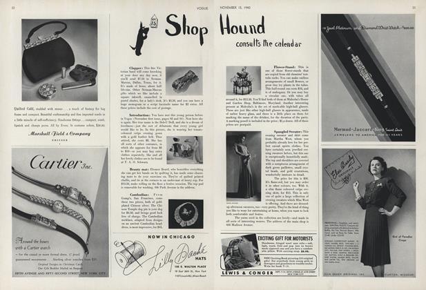 Shop Hound Consults the Calendar