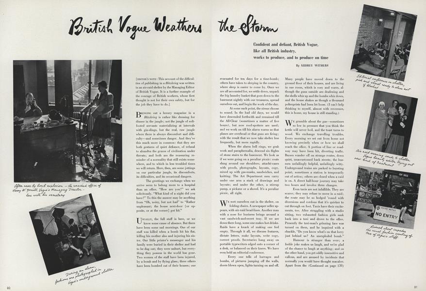 British Vogue Weathers the Storm